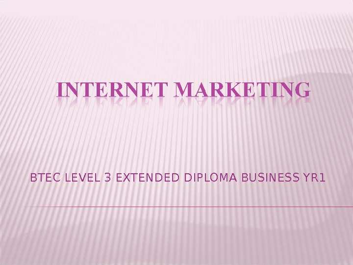 BTEC LEVEL 3 EXTENDED DIPLOMA BUSINESS YR 1
