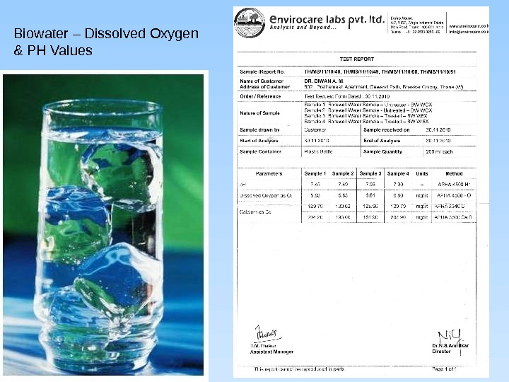 Biowater – Dissolved Oxygen & PH Values