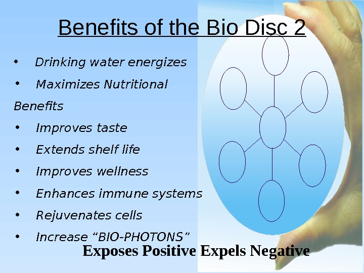 Benefits of the Bio Disc 2 Exposes Positive Expels Negative  •  Drinking water energizes
