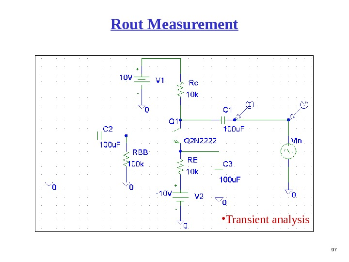 97 Rout Measurement • Transient  analysis