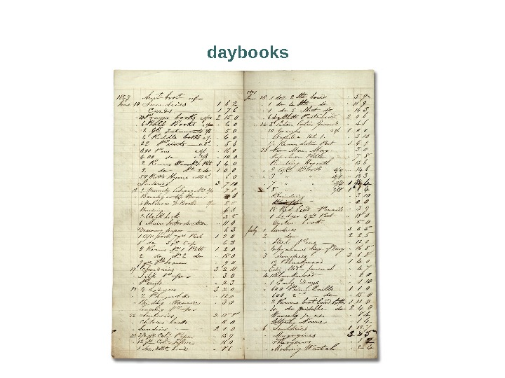 daybooks
