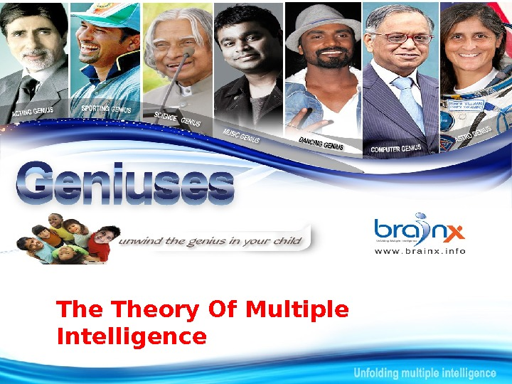 The Theory Of Multiple Intelligence