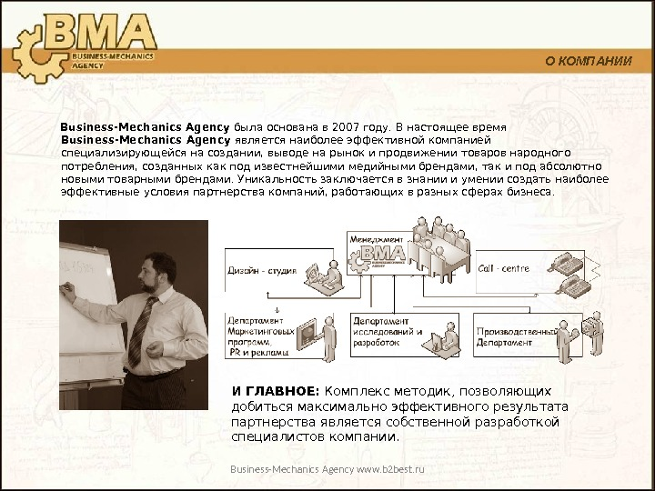 Business-Mechanics Agency www. b 2 best. ru  Business-Mechanics Agency была основана в 2007 году. В