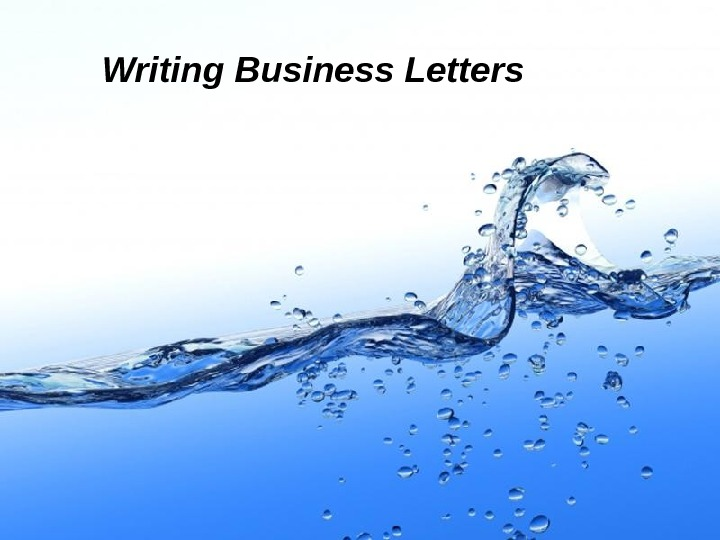 Page 1 Writing Business Letters