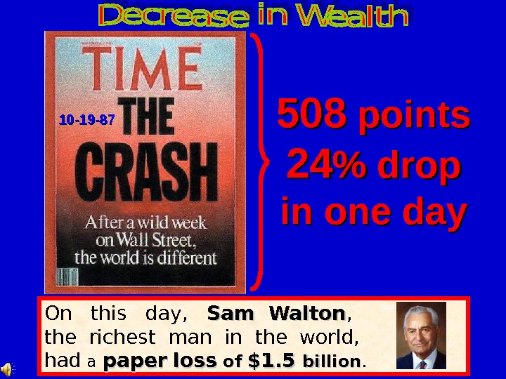 On  this  day, Sam Walton , the richest man in the world, had a