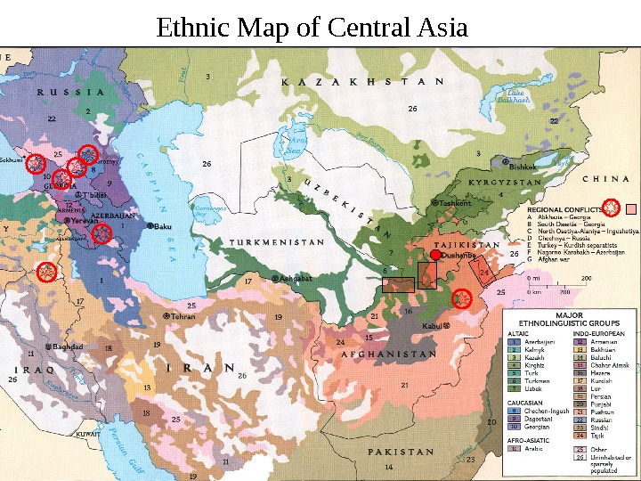 Ethnic Map of Central Asia