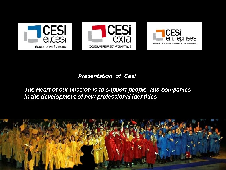 cesi 2011       Presentation of Cesi The Heart of our mission