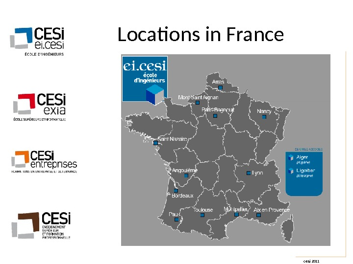 cesi 2011 Locations in France