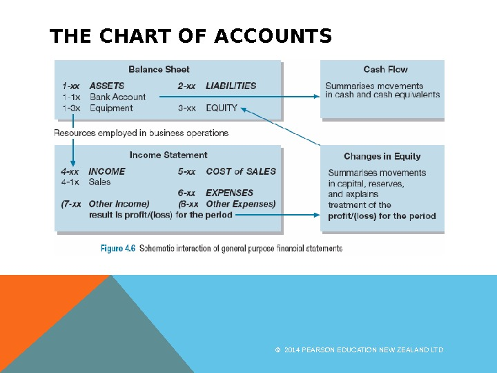 THE CHART OF ACCOUNTS © 2014 PEARSON EDUCATION NEW ZEALAND LTD