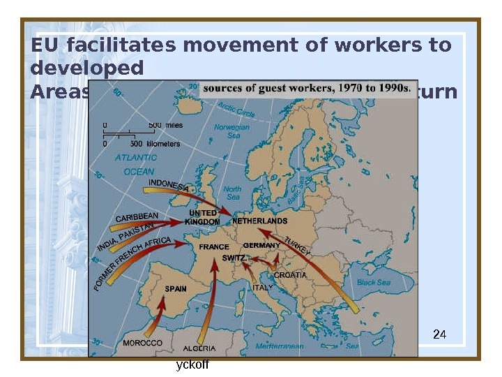 Globalization & Diversity:  Rowntree, Lewis, Price, W yckoff 24 EU facilitates movement of workers to