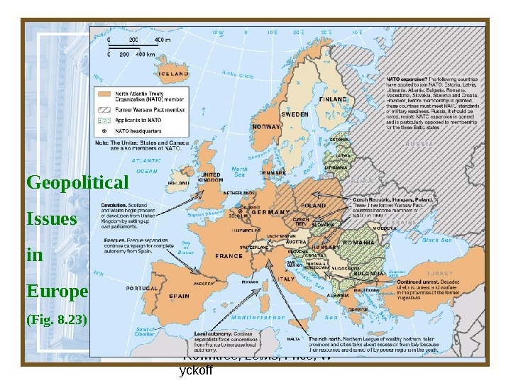 Globalization & Diversity:  Rowntree, Lewis, Price, W yckoff 42 Geopolitical Issues in Europe (Fig. 8.