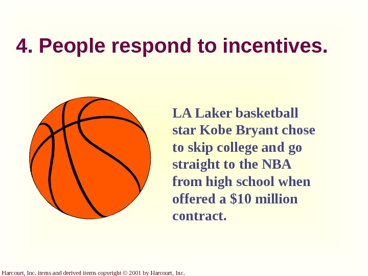 Harcourt, Inc. items and derived items copyright © 2001 by Harcourt, Inc. LA Laker basketball star