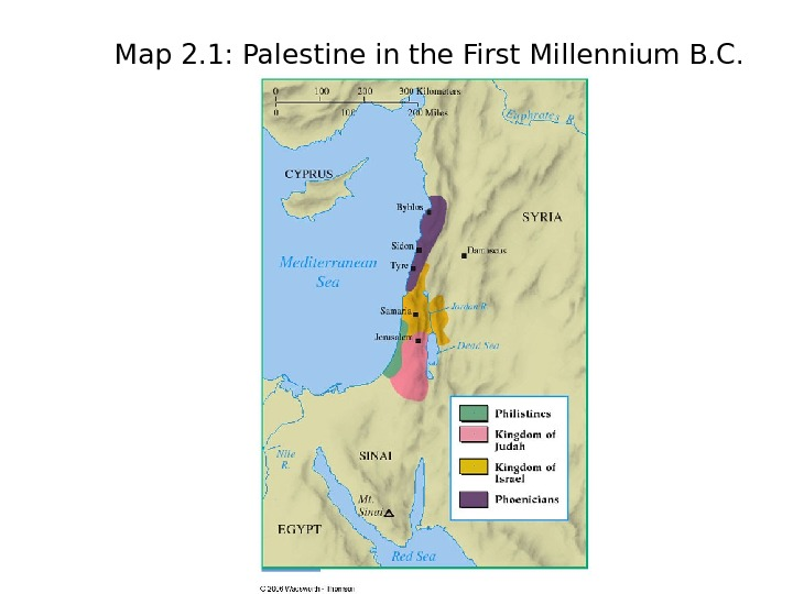 Map 2. 1: Palestine in the First Millennium B. C.