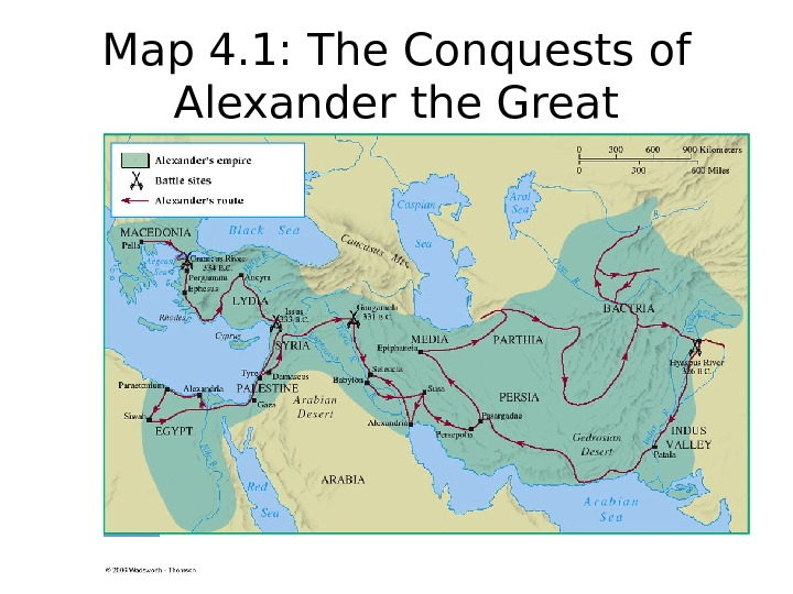 Map 4. 1: The Conquests of Alexander the Great