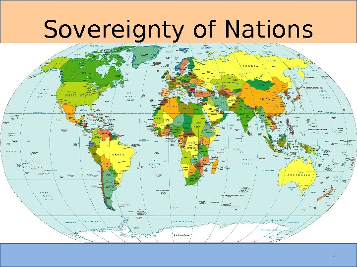 2 Sovereignty of Nations