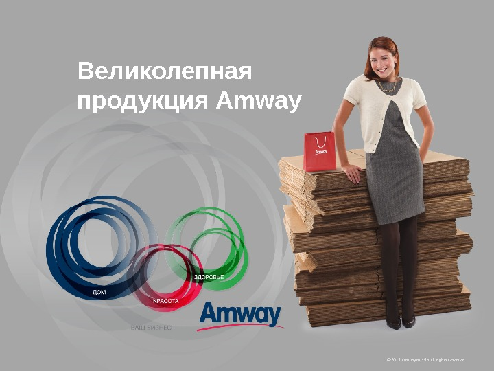 © 20 11  Amway Russia All rights reserved. Великолепная продукция Amway
