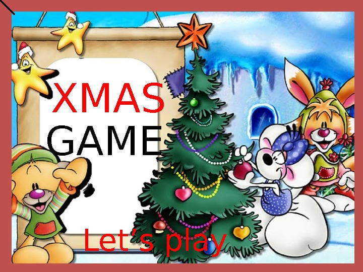 GAME Let's play. XMAS