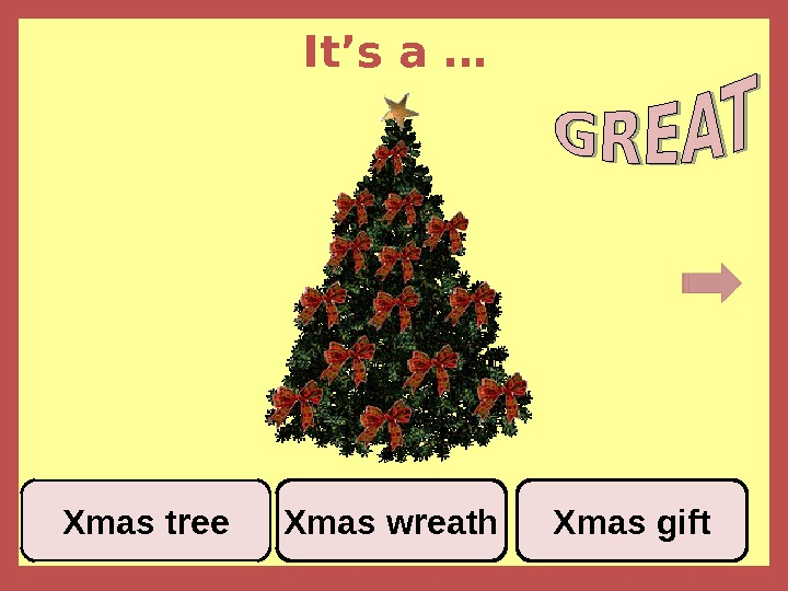 It's a … Xmas wreath. Xmas tree Xmas gift