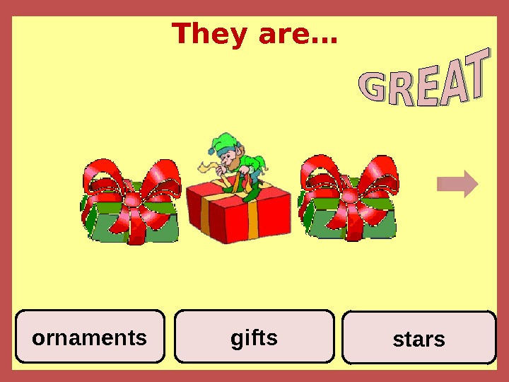 They are… starsgiftsornaments