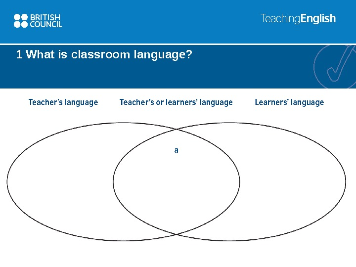 1 What is classroom language?