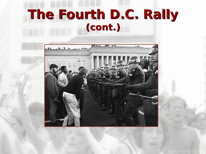 The Fourth D. C. Rally  (cont. )