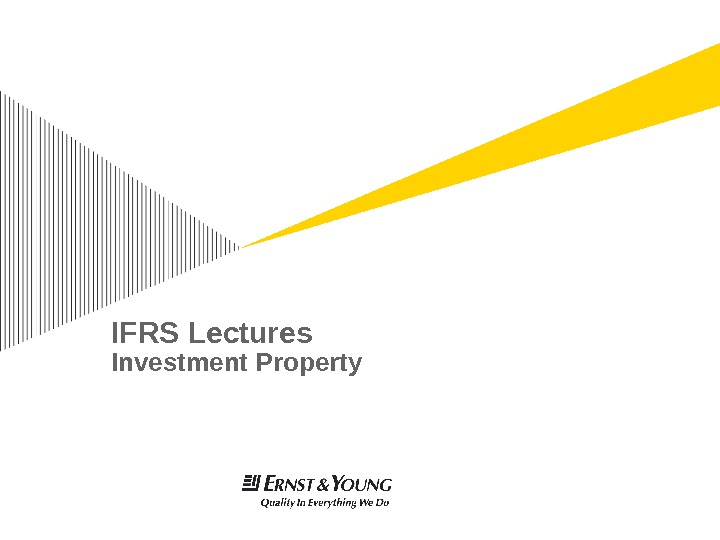 IFRS Lectures Investment Property