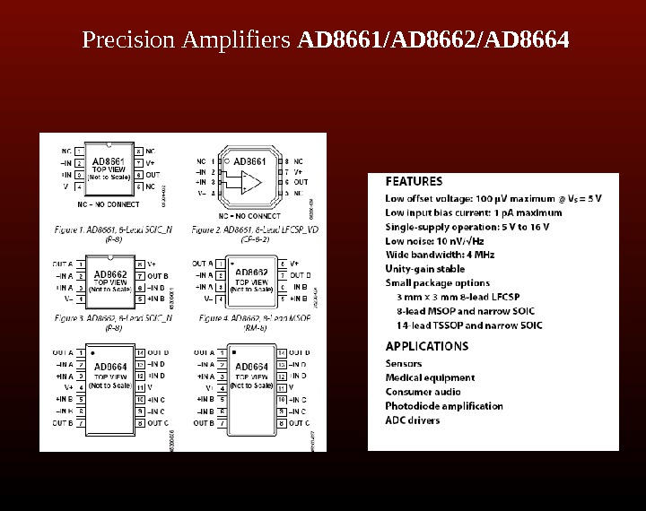 Precision Amplifiers AD 8661/AD 8662/AD 8664