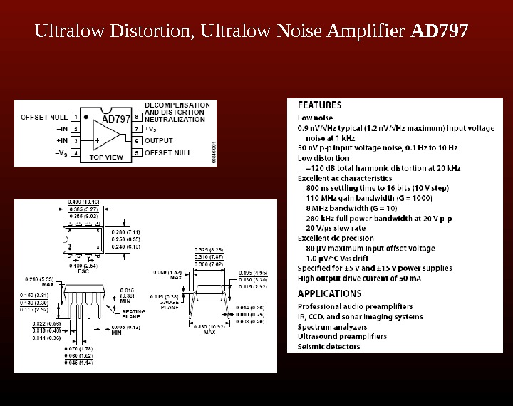 Ultralow Distortion, Ultralow Noise Amplifier AD 797