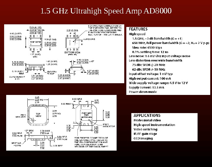 1. 5 GHz Ultrahigh Speed Amp AD 8000