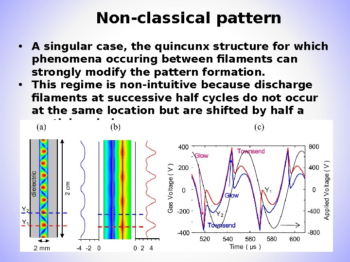 Non-classical pattern  • A singular case, the quincunx structure for which phenomena occuring between filaments
