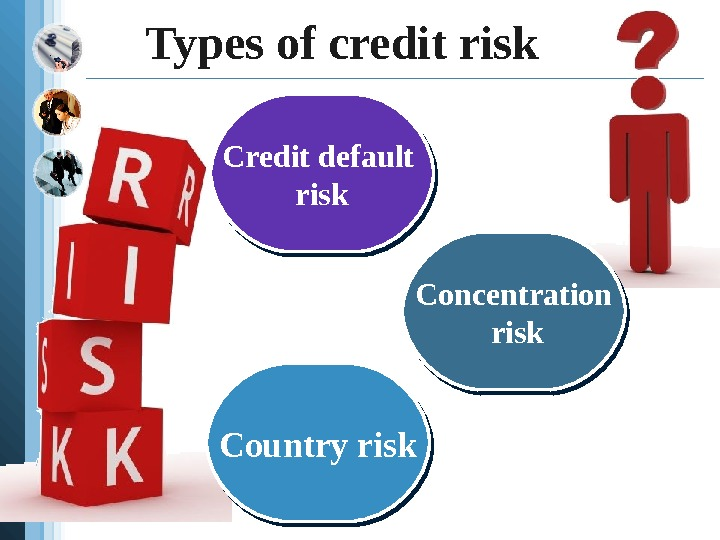 Types of credit risk Credit default risk Concentration  risk Country risk