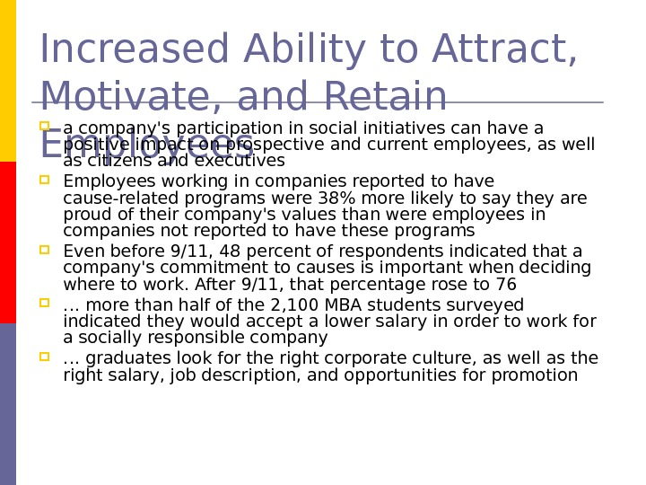 Increased Ability to Attract,  Motivate, and Retain Employees a company's participation in social