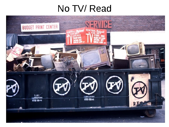 No TV/ Read