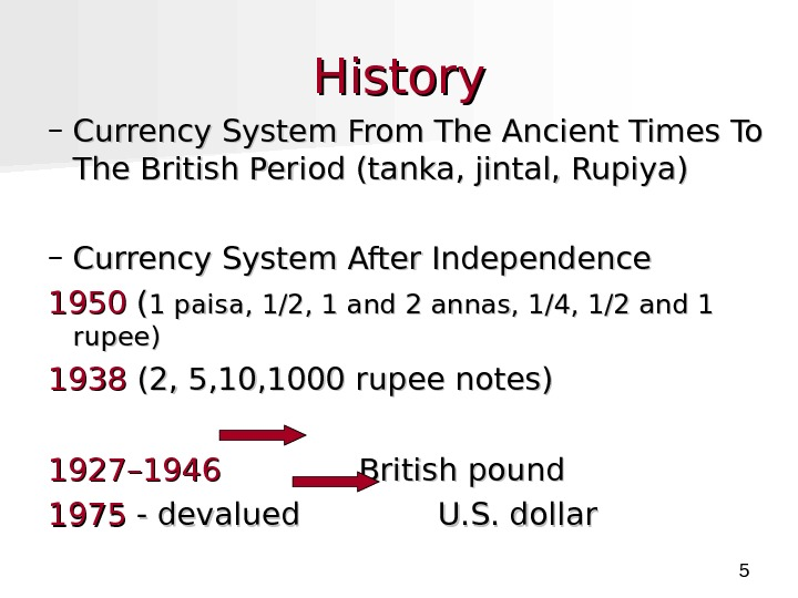 5 History – Currency System From The Ancient Times To The British Period (tanka, jintal,