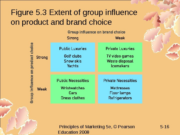 Principles of Marketing 5 e, © Pearson Education 2008 5 - 16 Figure 5.