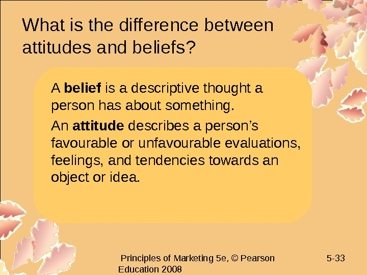 Principles of Marketing 5 e, © Pearson Education 2008 5 - 33 What is