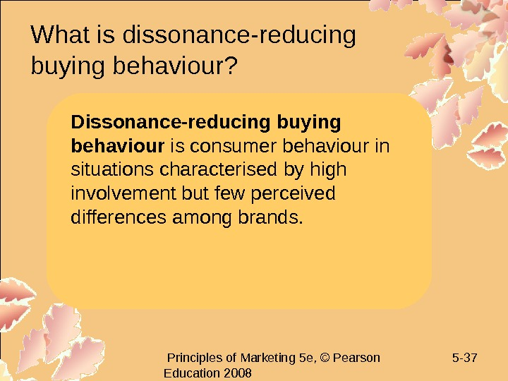 Principles of Marketing 5 e, © Pearson Education 2008 5 - 37 What is
