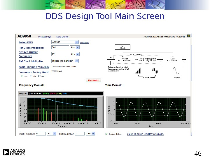 46 DDS Design Tool Main Screen