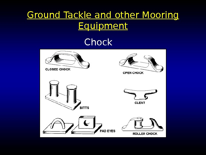 Ground Tackle and other Mooring Equipment Chock