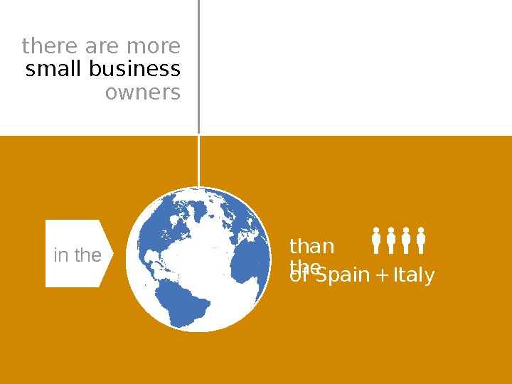 than the of Spain Italy+in thethere are more  small business owners