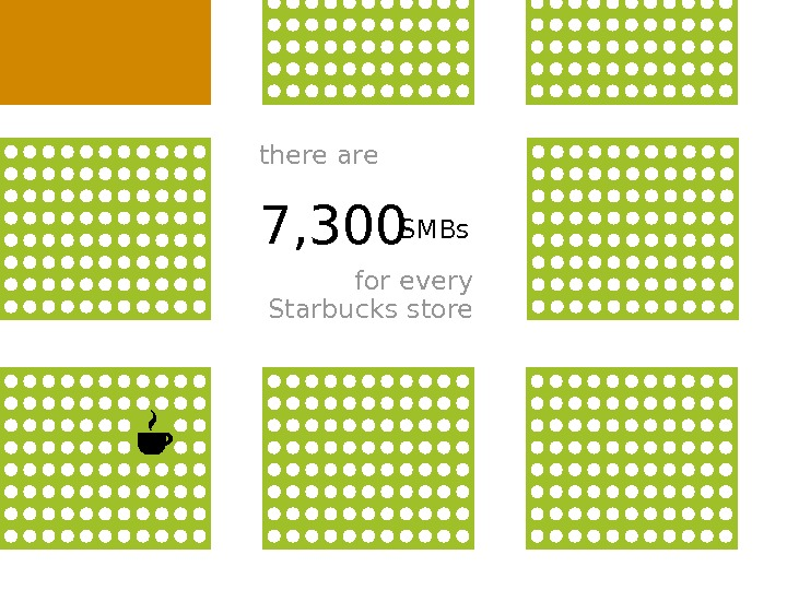 7, 300 for every Starbucks storethere are SMBs