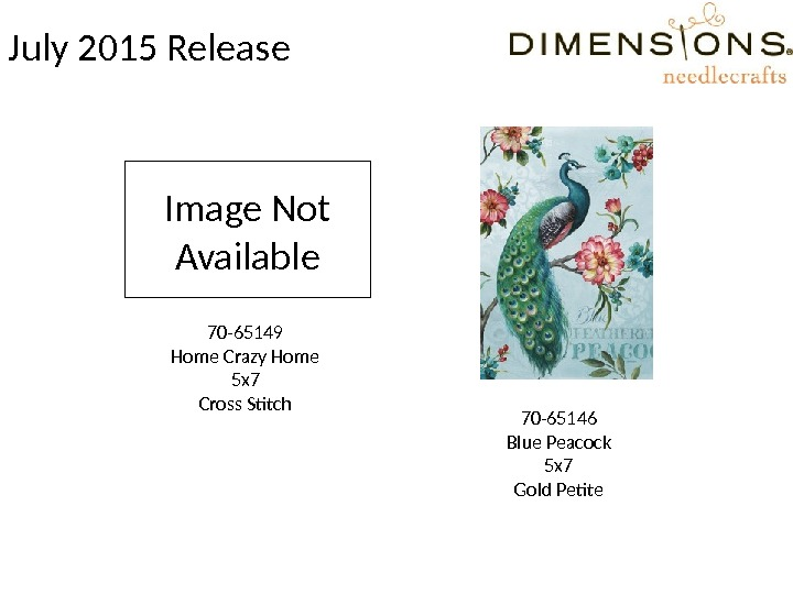 July 2015 Release 70 -65149 Home Crazy Home 5 x 7 Cross Stitch 70 -65146 Blue