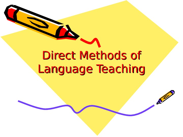 Direct Methods of Language Teaching