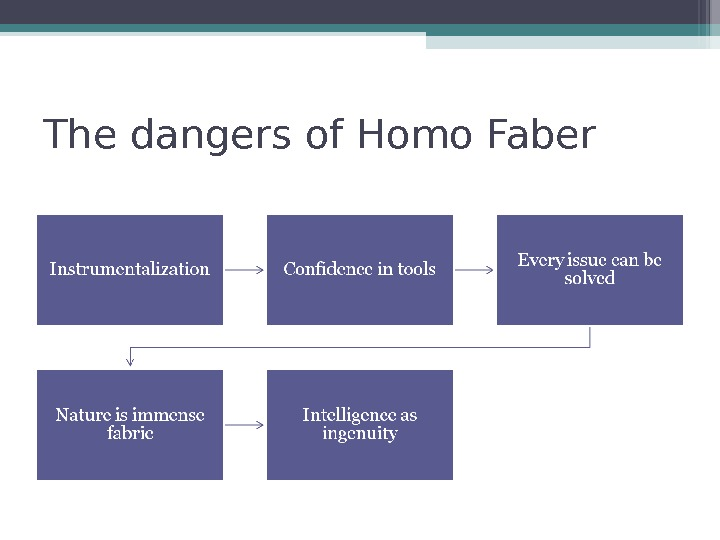 The dangers of Homo Faber