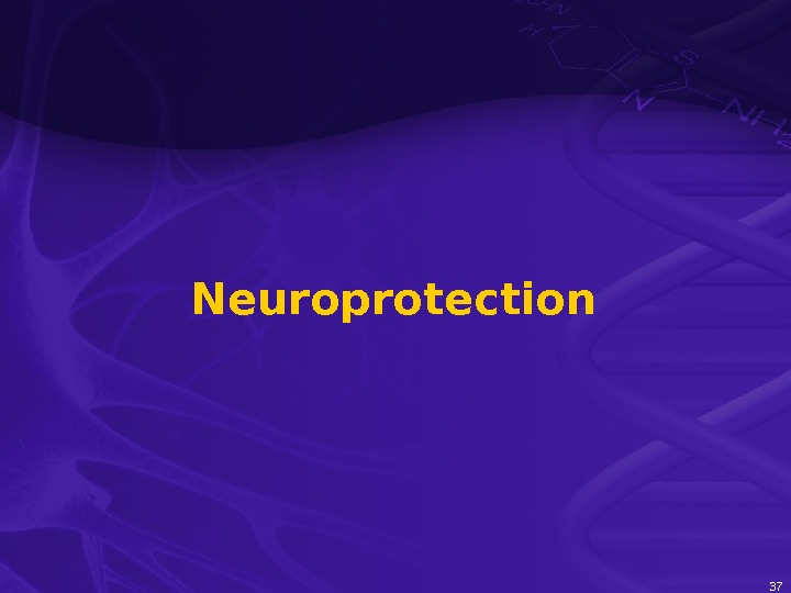 37 Neuroprotection