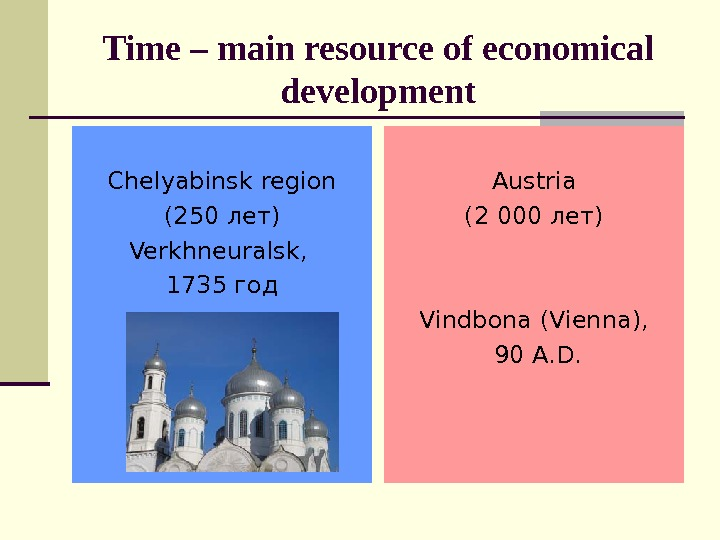 Time – main resource of economical development Chelyabinsk region (250 лет) Verkhneuralsk ,  1735 год