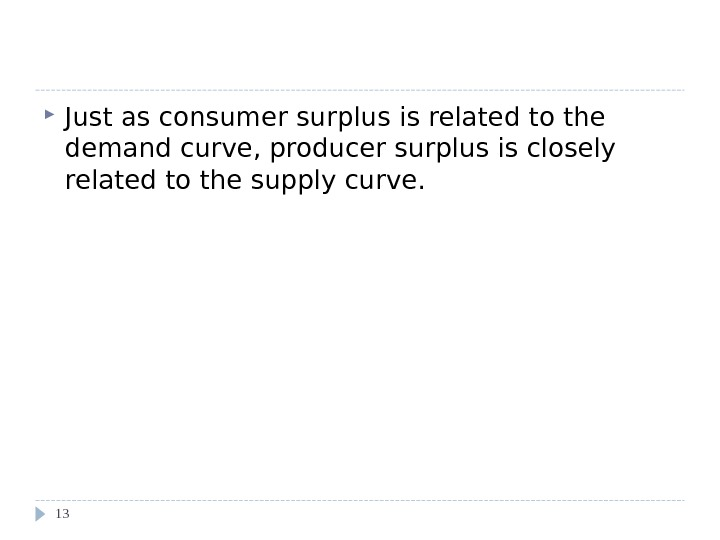 Using the Supply Curve to Measure Producer Surplus Just as consumer surplus is related to the