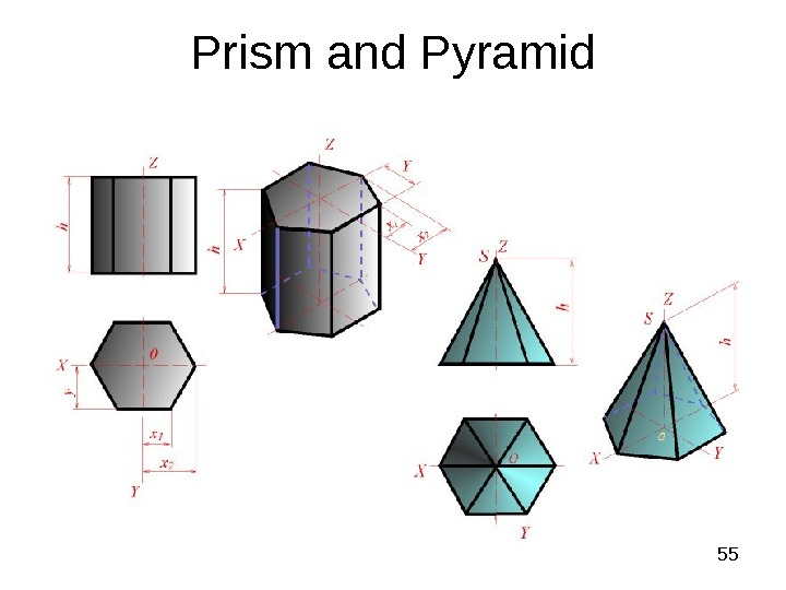 55 Prism and Pyramid