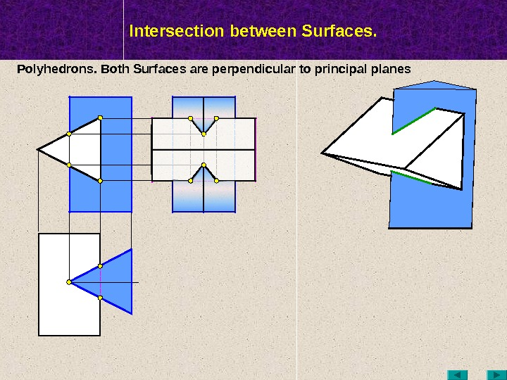 МТК Intersection between Surfaces. Polyhedrons. Both Surfaces are perpendicular to  principal planes