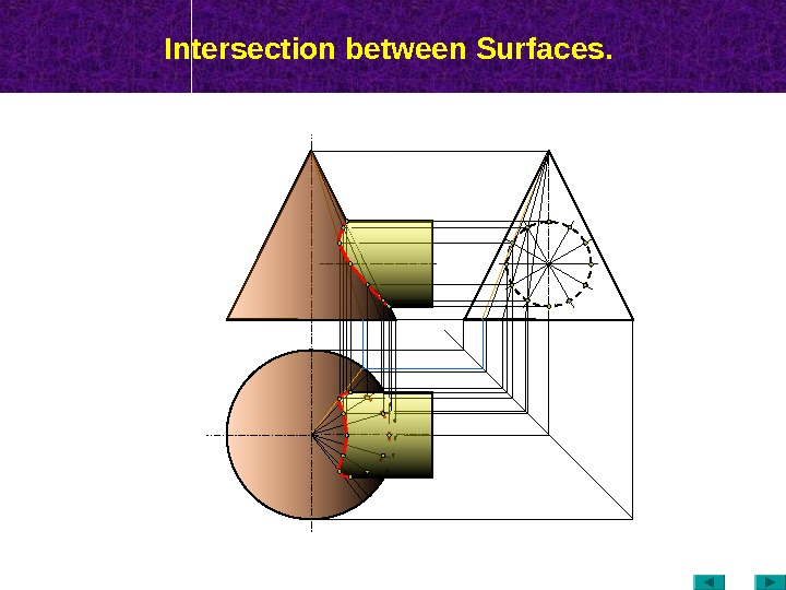 Intersection between Surfaces.